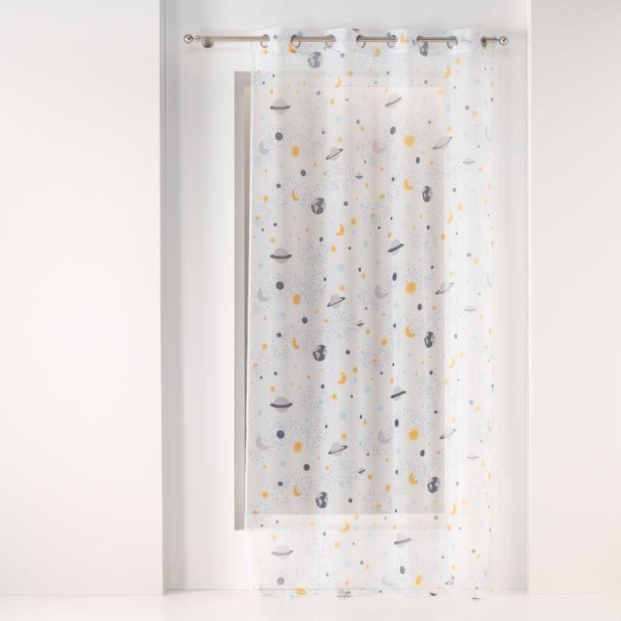 CDaffaires Panneau a oeillets 140 x 240 cm voile imprime transfert petit astronaute Blanc