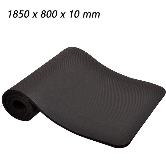 HOMEINS Tapis de Yoga Epais Tapis de Sol Antidérapant Pliable Ecologique Multi-Usages Haute Densité Tapis de Gym, Noir