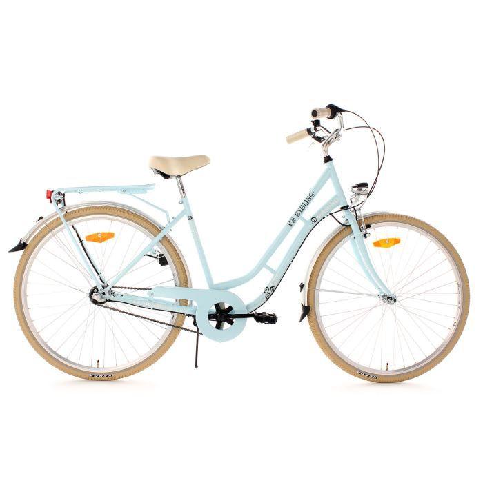 Vélo de ville femme 28'' 3 vitesses Casino bleu TC 54 cm KS Cycling