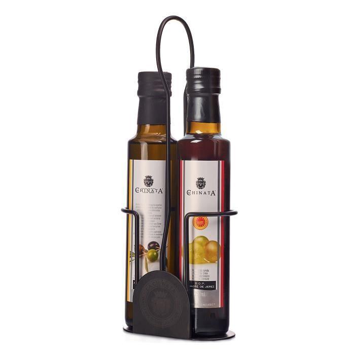 Ensemble huile d'olive et vinaigre (métal) - La Chinata (2 x 250 ml)