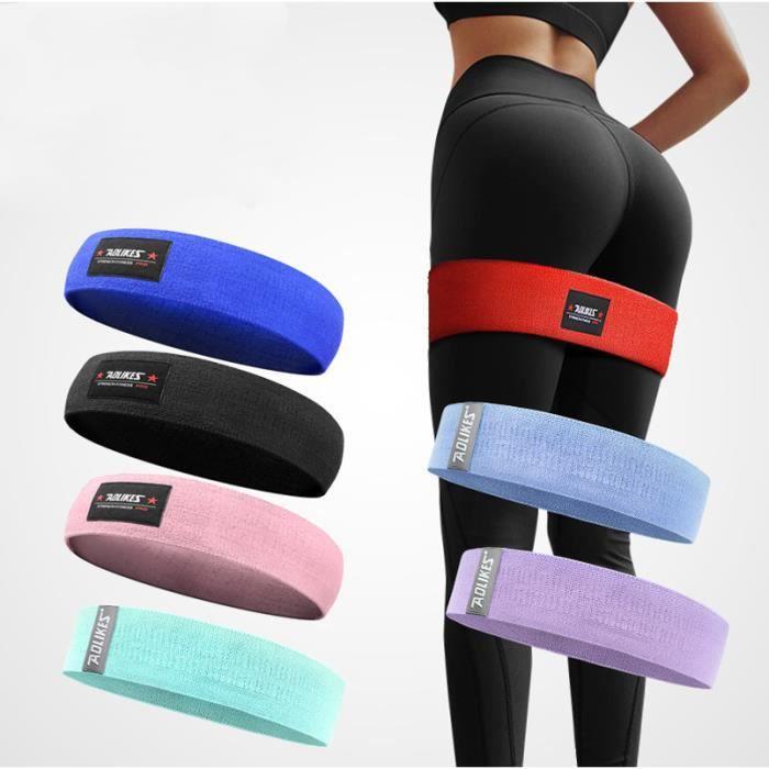 Bande de Resistance - Loop Bande Latex Fitness Équipement d'Exercices pour Musculation Pilates Squat Sport avec sac en filet Bleu XL