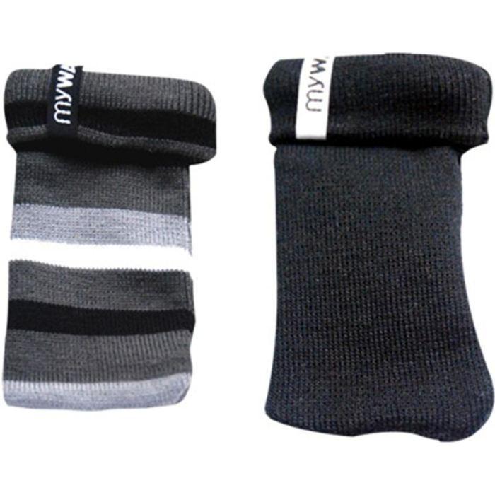 Modelabs Pack 2 socks uni / rayé Noir - Etui