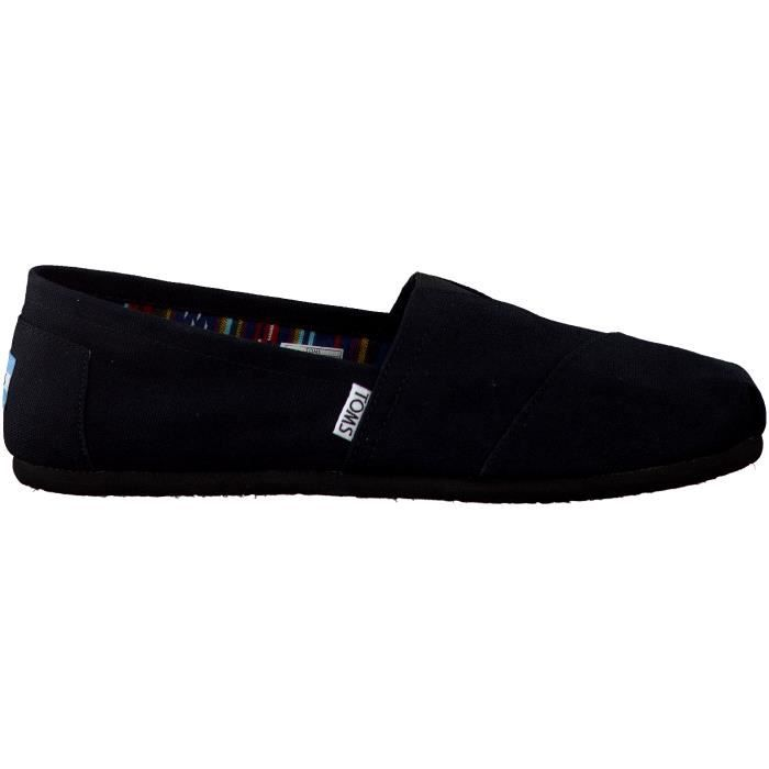 Toms Mocassins CANVAS HEREN Noir