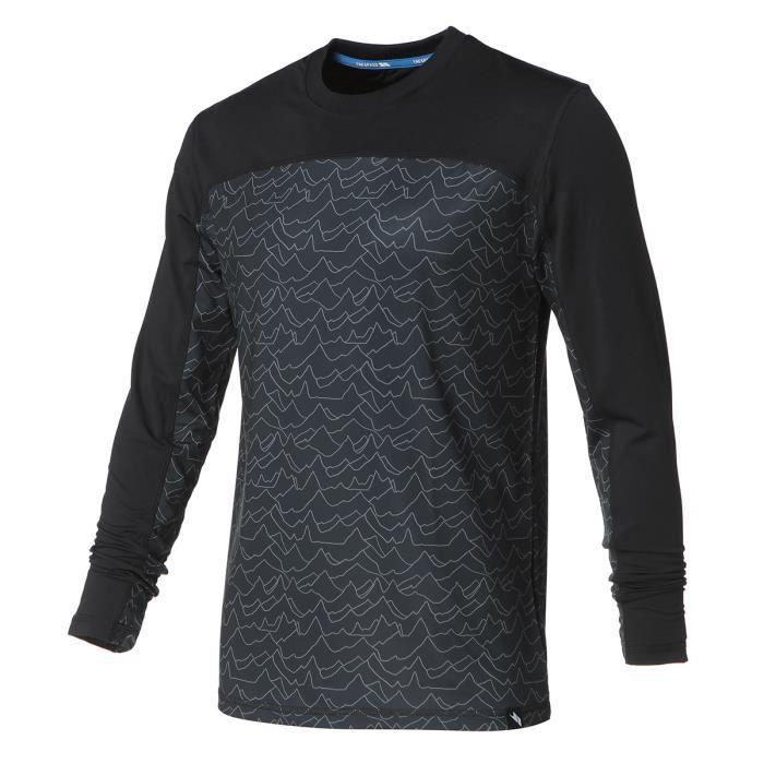 TRESPASS Sous-vêtement haut Thermique Drill TP75 - Homme - Gris et noir