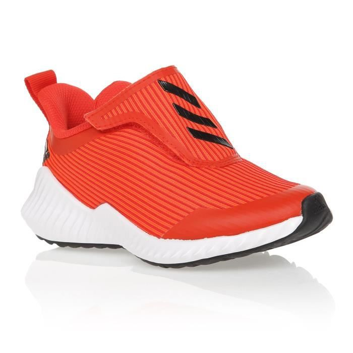 ADIDAS Baskets Fortarun AC K - Enfant - Orange et blanc
