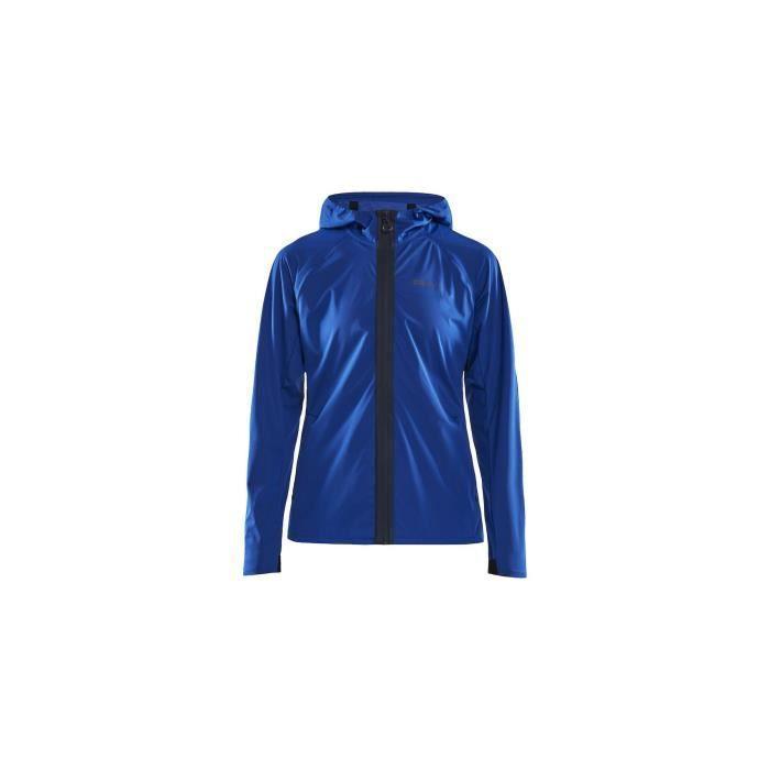Veste à capuche Running CRAFT Femme Zippée Hydro Jacket Bleu AH 2019