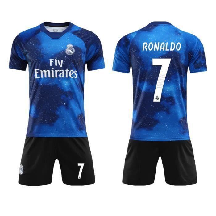 Nouveau Real Madrid Emirates Ronaldo NO.7 fly Adulte Maillots Foot et Shorts de football Homme