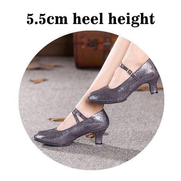 Chaussures de danse,Chaussures de danse moderne pour femmes, Tango, valse, à mi-talons, pour salle de bal, 9 couleurs, de offre sp