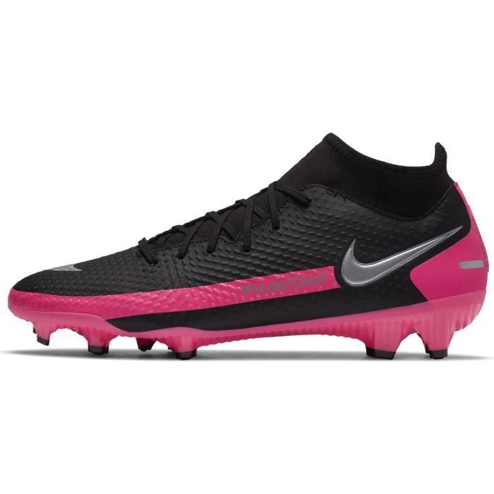 Chaussures Nike Phantom Gt Academy Df Fg/mg noir / rose homme