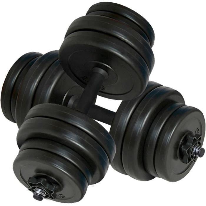 Kit haltères musculation Poids ajustable30 kg (lot de 2)