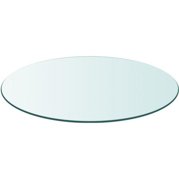 Dessus de table-Plateaux de table ronde en verre trempé 700 mm