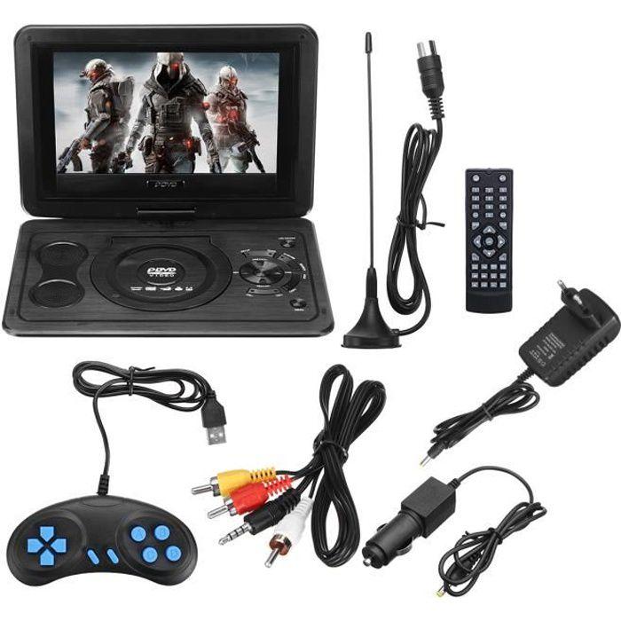 TEMPSA Lecteur DVD portable - Écran rotatif 13,9 pouces - Télécommande - Joystick de jeu