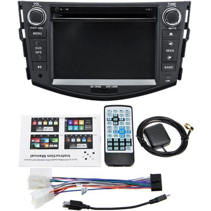 TEMPSA Autoradio 7 pouces 2 din GPS Bluetooth DVD 3G pour Toyota RAV4 06-12