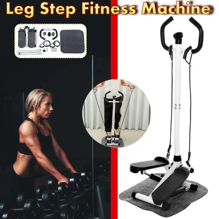 TEMPSA Stepper Marcheur Multifonctionnel Intérieur Maison Gym Jambe Fitness Étape Machine LCD Moniteur Poignée Réglable