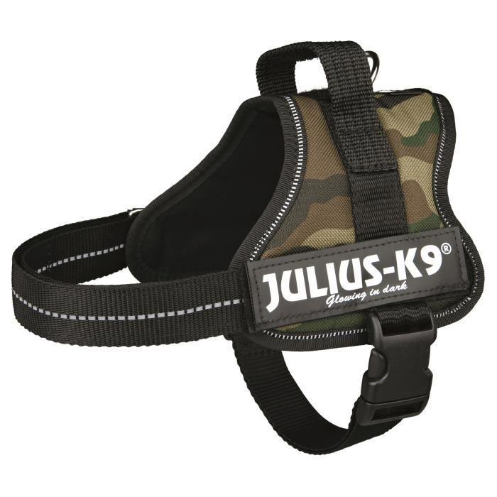 Harnais Power Julius-K9 - Mini - M : 51-67 cm-28 mm - Camouflage - Pour chien