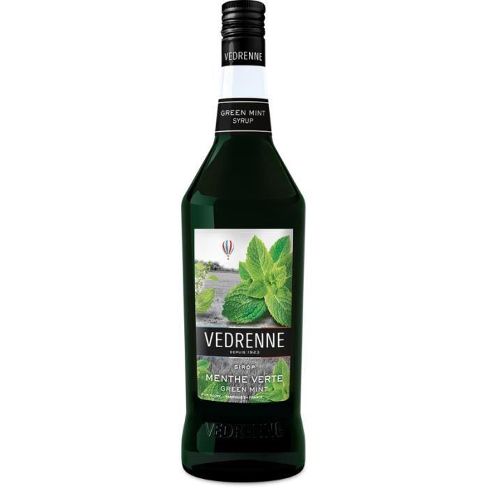 Sirop de Menthe Verte VEDRENNE 100cl - Fraîche et puissante