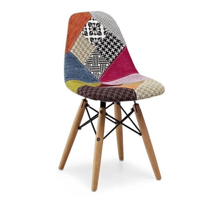 Chaise inspiration dsw patchwork pour enfants achat for Chaise dsw patchwork
