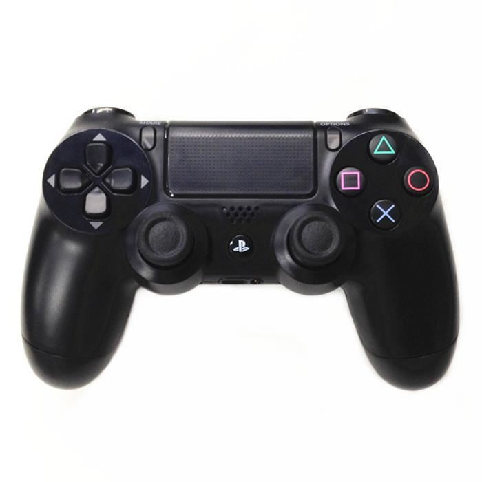 manette de jeu dual 4 joystick console jet black ps4 prix pas cher cdiscount. Black Bedroom Furniture Sets. Home Design Ideas