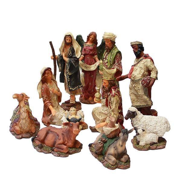 Crèche de Noël   12 grands personnages 30cm   Achat / Vente crèche