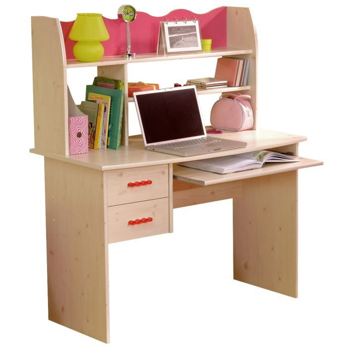 bureau swithome score pin lasur blanc et framb achat vente bureau b b enfant cdiscount. Black Bedroom Furniture Sets. Home Design Ideas