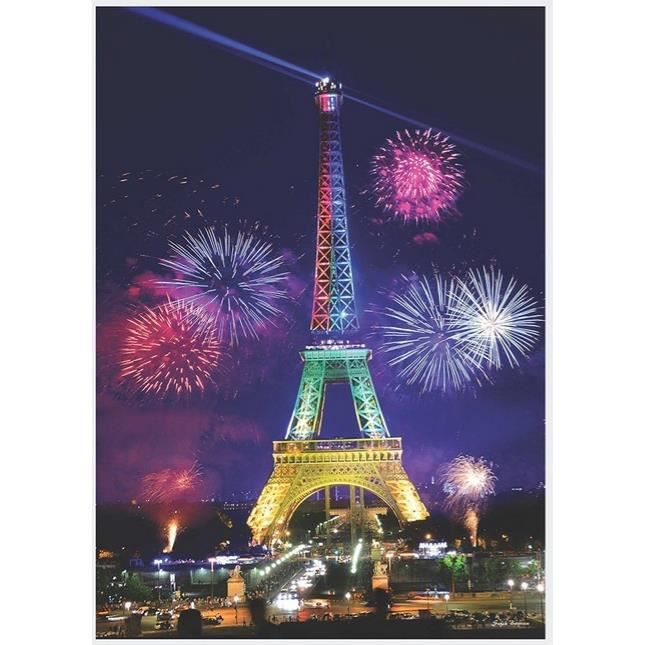 puzzle 1000 pi ces puzzle lumineux la nuit tour eiffel achat vente puzzle cdiscount. Black Bedroom Furniture Sets. Home Design Ideas