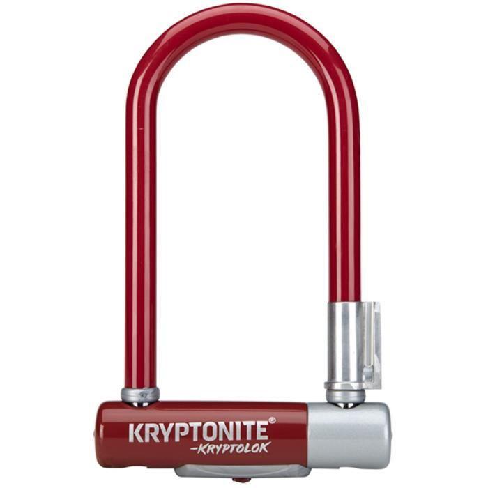 Kryptonite Kryptolok Mini U-Lock with flexframe support Or-Vendu Sécurisé