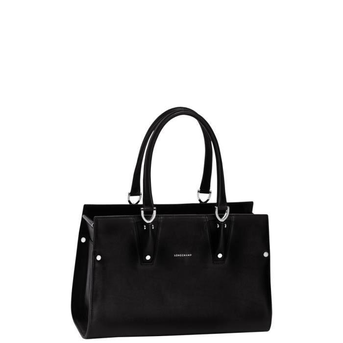 LONGCHAMP - sac femme porté main en cuir - NOIR PARIS PREMIER ...