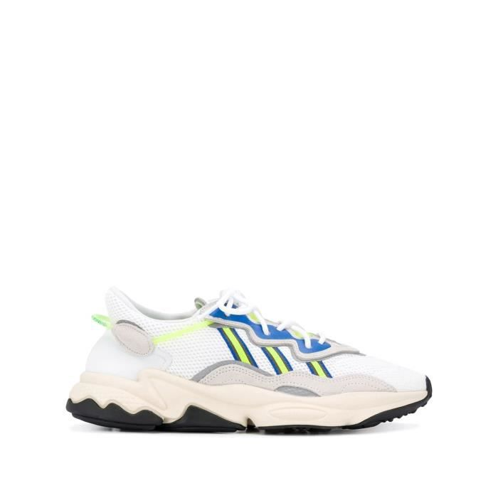 ADIDAS BY RAF SIMONS HOMME EE7009 BLANC FIBRES SYNTHÉTIQUES BASKETS