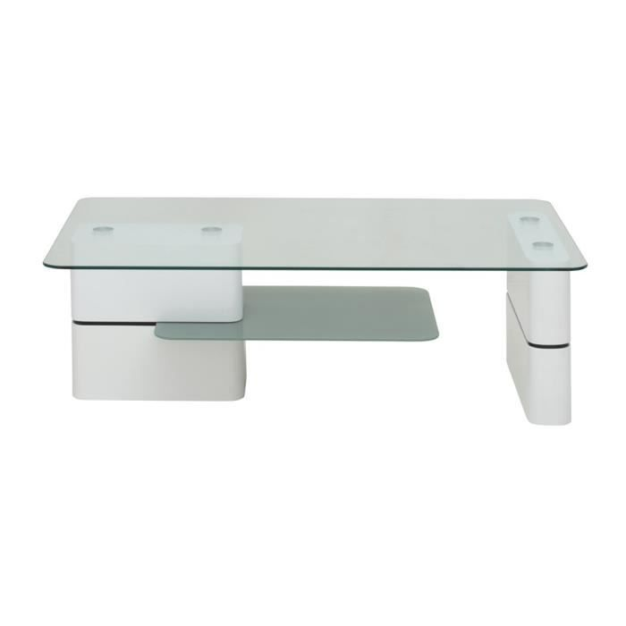Table basse swithome guilin laqu blanc achat vente table basse table bas - Table basse blanc laque cdiscount ...