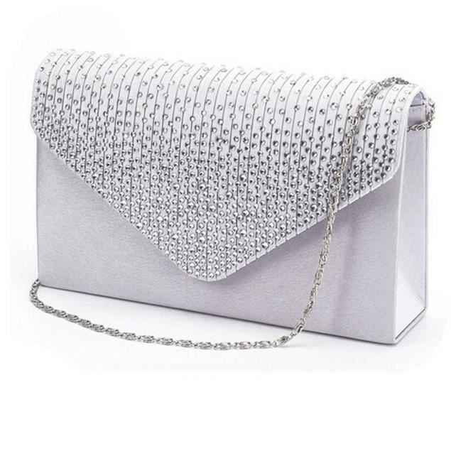 Dames Sac Diamante Mesdames Enveloppe D'embrayage Party Zy31112463 Soir Grand Satin qPBIZ