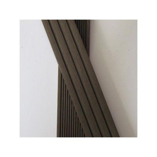 Plinthe Finition Terrasse Bois Composite L 200 Cm L 5 5 Cm E 1 Cm Gris Anthracite Achat Vente Revetement En Planche Plinthe Finition Terrasse B Cdiscount