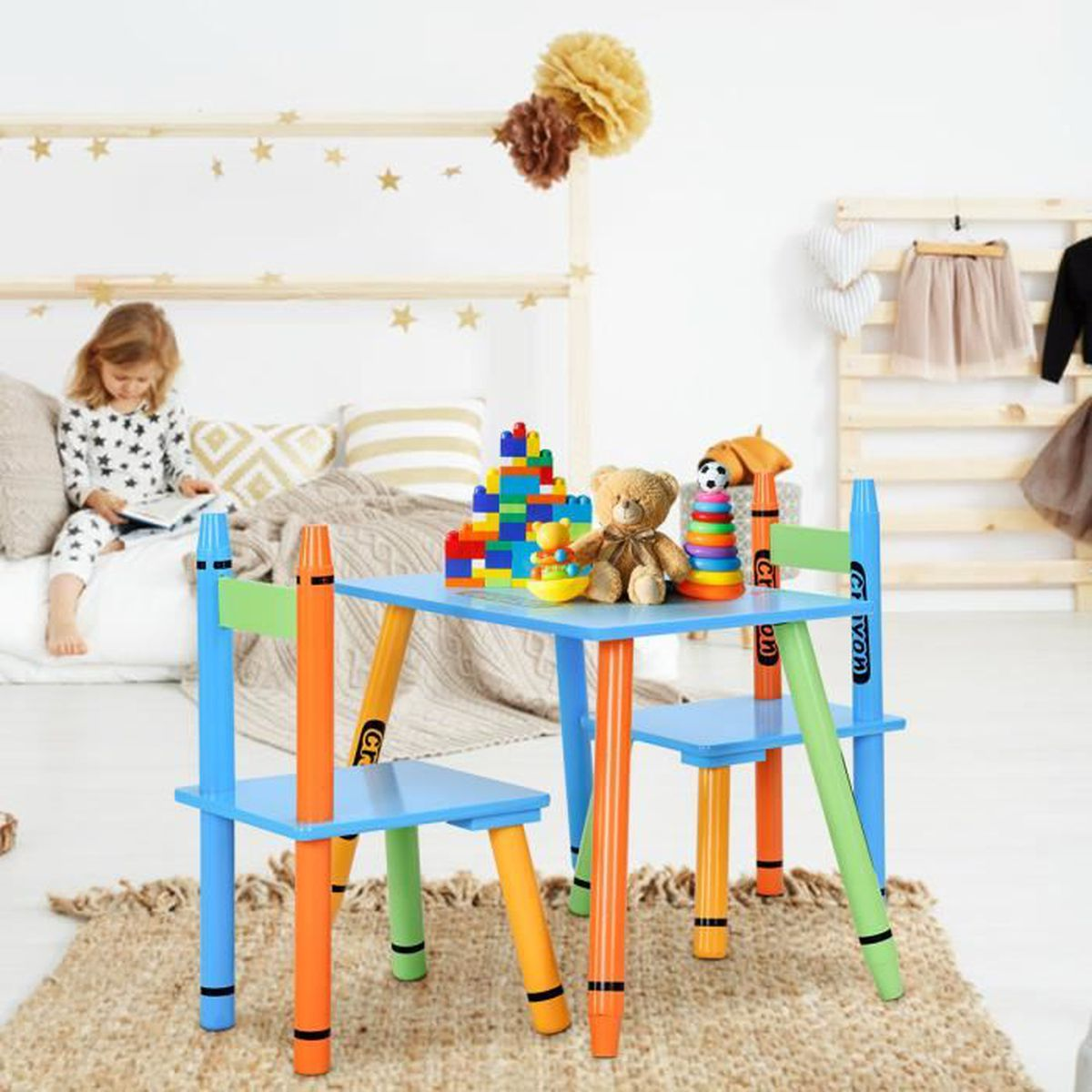 table enfant crayon achat vente table enfant crayon pas cher cdiscount. Black Bedroom Furniture Sets. Home Design Ideas