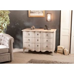 COMMODE DE CHAMBRE BILBAO Commode en manguier 3 tiroirs argile