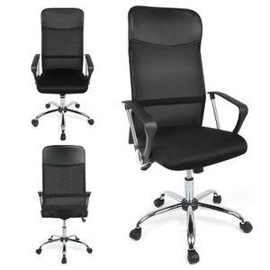 CHAISE DE BUREAU Chaise de bureau noire en Dos en mesh Simple et re