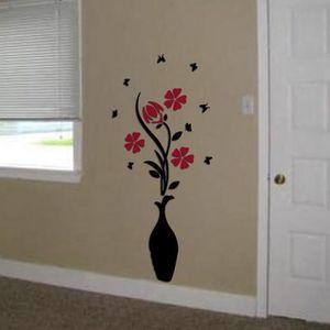 VASE - SOLIFLORE Sticker mural stéréo vase prune ZSY60314064_118