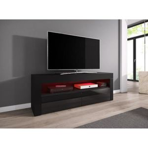 meuble tv led achat vente meuble tv led pas cher cdiscount. Black Bedroom Furniture Sets. Home Design Ideas