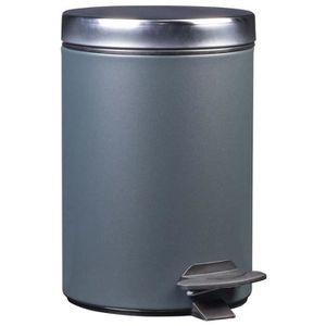 5 L satin mat en acier inoxydable Soft Close Poubelle à Pédale Salle Bain Cuisine Bureau Cube