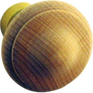 1 x En bois Bouton Poignée de porte de cuisine tiroir en chêne massif bois diamètre 44 mm ronde