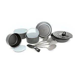 POÊLE - SAUTEUSE Set de poêles et casseroles avec poignée amovible
