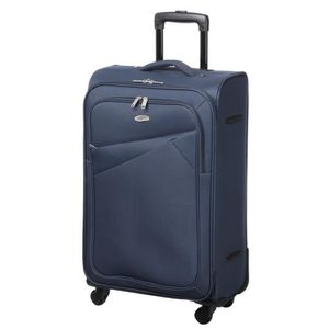 VALISE - BAGAGE CASINO Valise trolley souple - 60cm - 4 roues - Bl