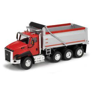 VOITURE - CAMION Camion CT660 CATERPILLAR 4 Essieux cabine rouge -
