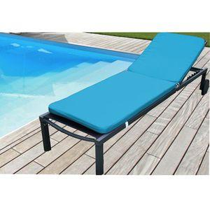 Coussin Bain de Soleil 185x58x5cm Bleu Lagon - Achat / Vente ...