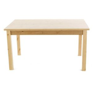 Table en pin cire achat vente table en pin cire pas for Table cuisine 140 x 90