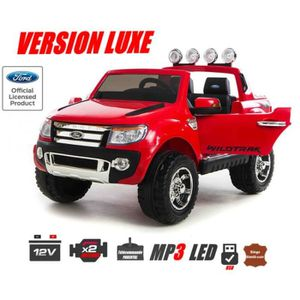 ford ranger avec peinture rouge m tallis e version luxe voiture lectrique pour enfant 2. Black Bedroom Furniture Sets. Home Design Ideas