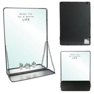 MIROIR THE HOME DECO FACTORY Miroir tablette à chainettes