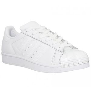 BASKET Baskets ADIDAS Superstar Metal cuir Femme-40-Blanc