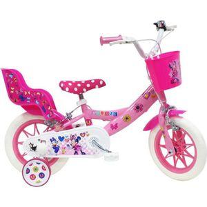 VÉLO ENFANT Vélo 12'' MINNIE / DISNEY  avec 2 freins - porte p