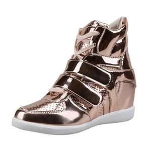 BOTTE Femmes Chaussures à bout rond Croix-Tied Wedges ta