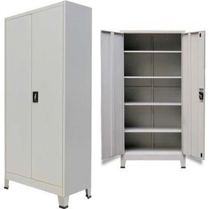 ARMOIRE DE BUREAU Armoire de bureau avec 2 portes Acier 90 x 40 x 18