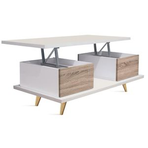 table basse relevable bois achat vente table basse relevable bois pas cher cdiscount. Black Bedroom Furniture Sets. Home Design Ideas